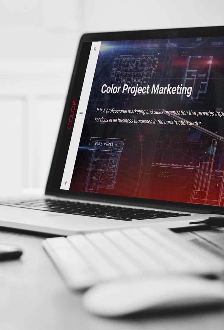 color project marketing corporate web design