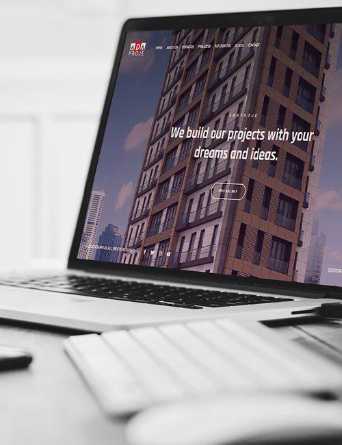 corporate web design project